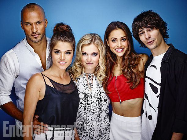 Ricky Whittle, Marie Avgeropoulos, Eliza Taylor, Lindsey Morgan, and Devon Bostick, The 100.