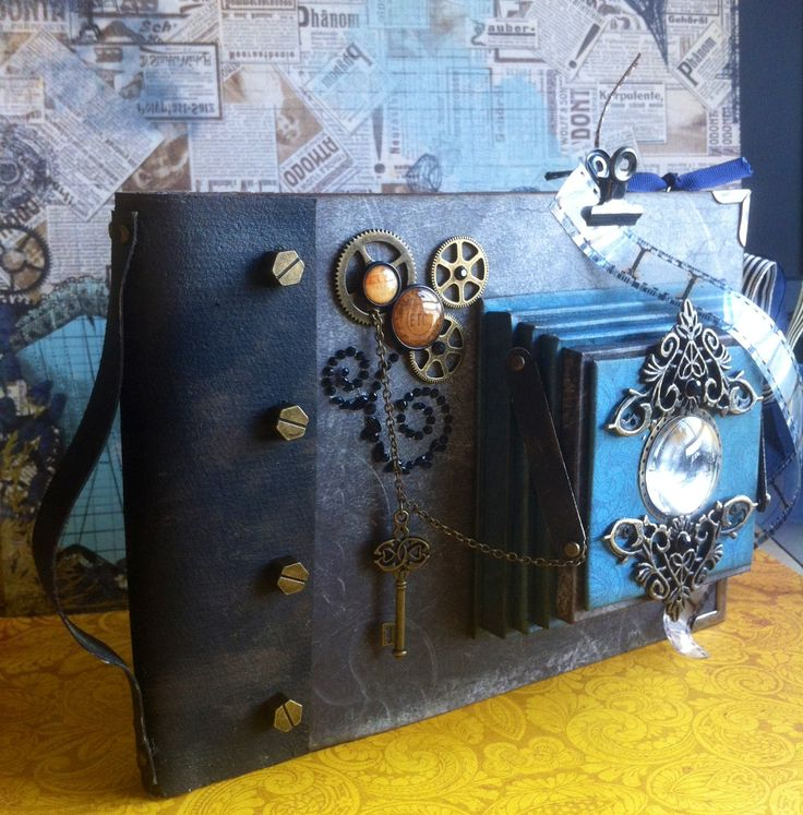 Scrapbooking: Vintage folding camera album--somewhere in time (cover)