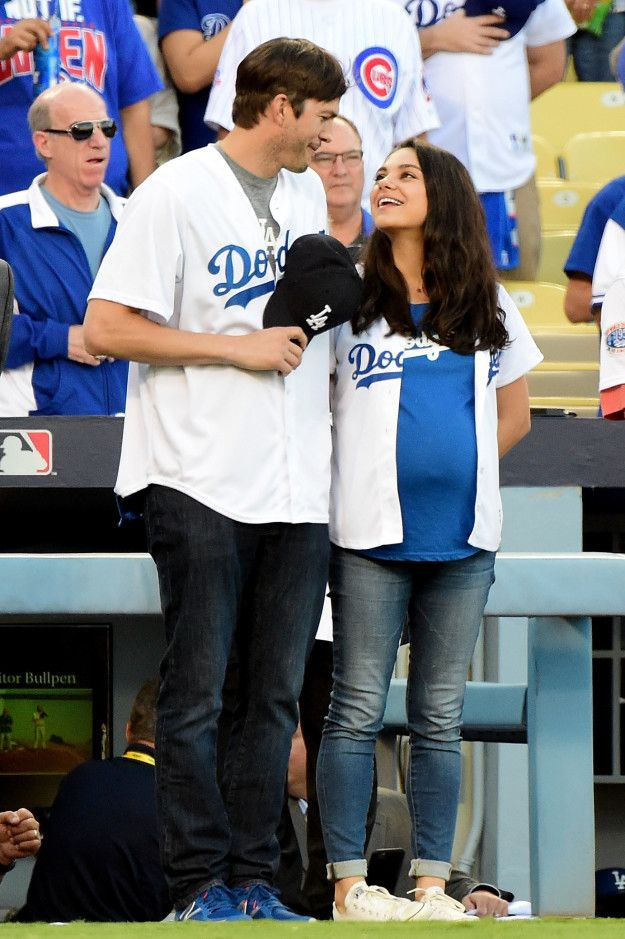 She may have just been the cutest pregnant person alive. | Mila Kunis And Ashton Kutcher Welcome Baby Boy Dimitri Portwood