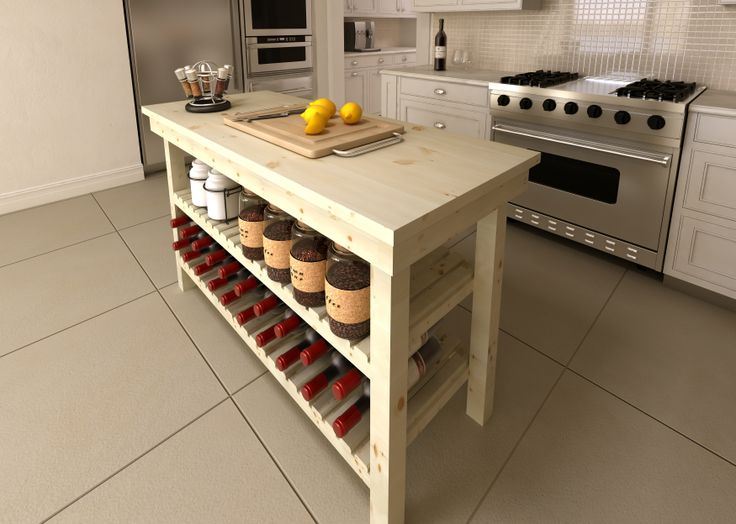 COLTIMBERS Workbench. EASY DIY. This could work in any kitchen, Modern or shabby chic. http://www.swartland.co.za