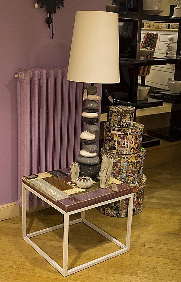 #Lampada sassi in #resina. #Arredamento #casa www.valterpisati.it