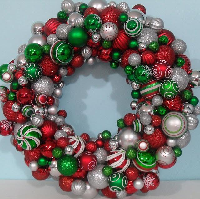 Christmas Ball Wreath Holiday ideas Christmas diy