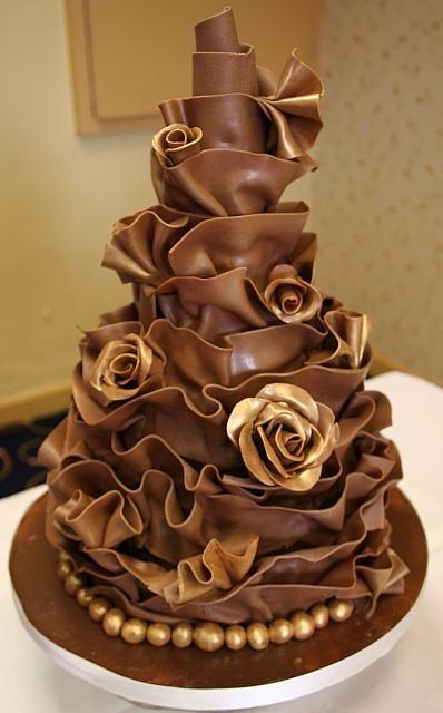 Two Tier Chocolate Wrap Cake