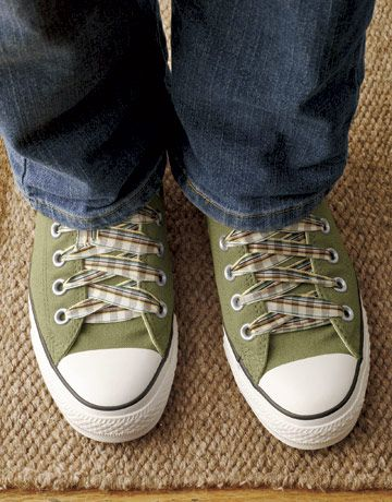 Ribbon Shoelaces Presto, change-o! For an unexpected alternative to ordinary shoelaces, choose