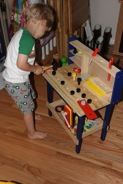 from Momma's Fun World  woodworking table great idea