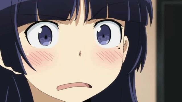Anime embarrassed face