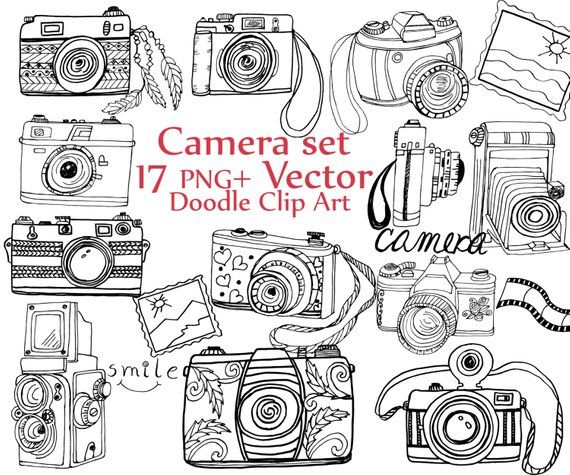 Doodle Camera Clipart Camera Clip Art Camera Vector Cute Cameras Hand Drawn Camera Photography Cl Cameraphotograp Camera Clip Art Clip Art Vintage Clip Art