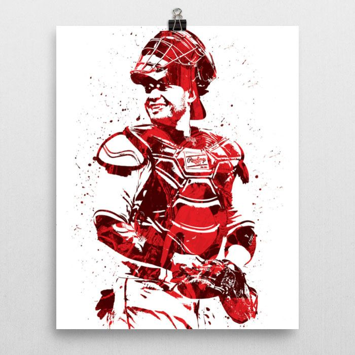"""Yadier Molina poster. Known as """"Yadi"""", is a Puerto Rican professional baseball catcher for the St. Louis Cardinals of Major League Baseball (MLB). A two-time World Series champion, he is considered an"""