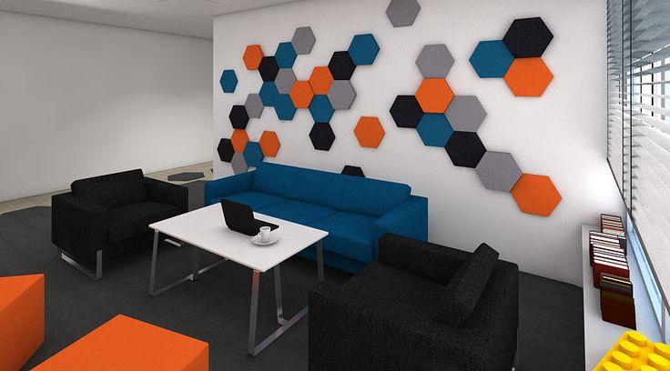 Kolekcja Fluffo HEXA. Panele ścienne 3D Fluffo, Fabryka Miękkich Ścian. Projekt by Małgorzata Sypniewska, kontakt: magdalena.juraszek@mikomax.pl (Mikomax Warszawa)