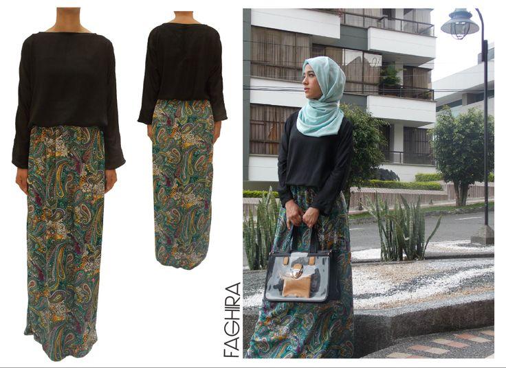 Abaya con ajuste modesto www.faghira.com