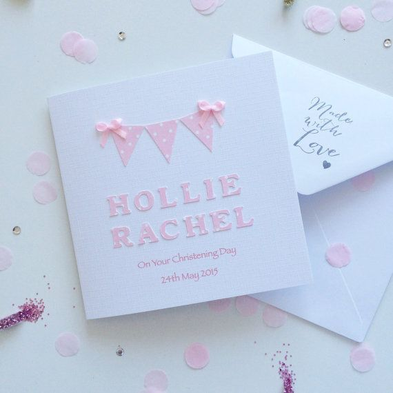 Christening/Baptism/Naming Day Card by WithlovefromJosie on Etsy