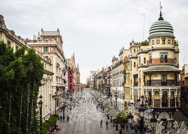 Edificio de La Adriática, Sevilla by Patryk Muntowski, via Behance
