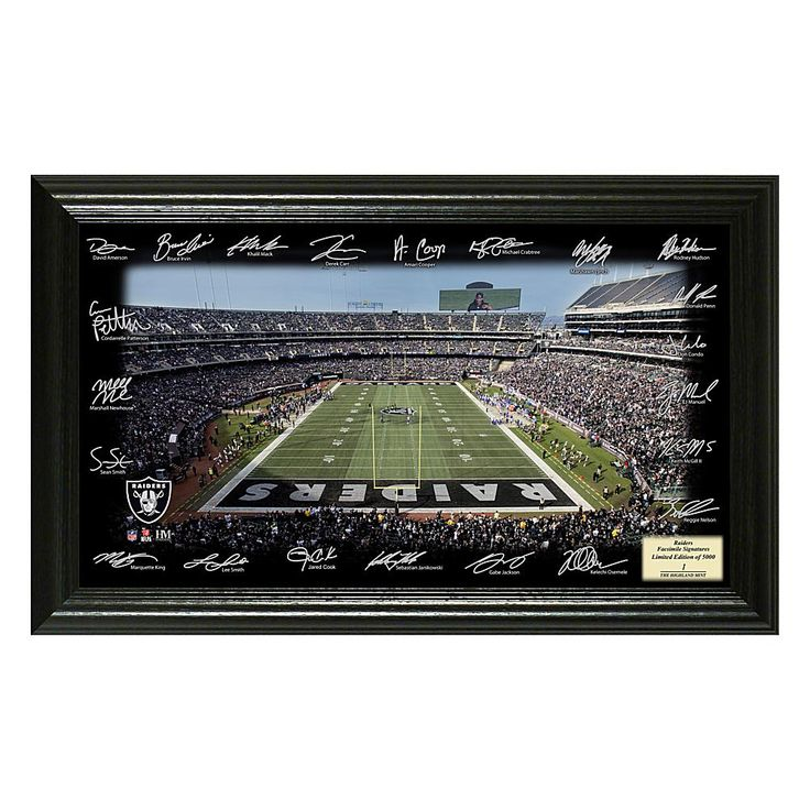 Officially Licensed NFL 2017 Signature Gridiron Print - Raiders