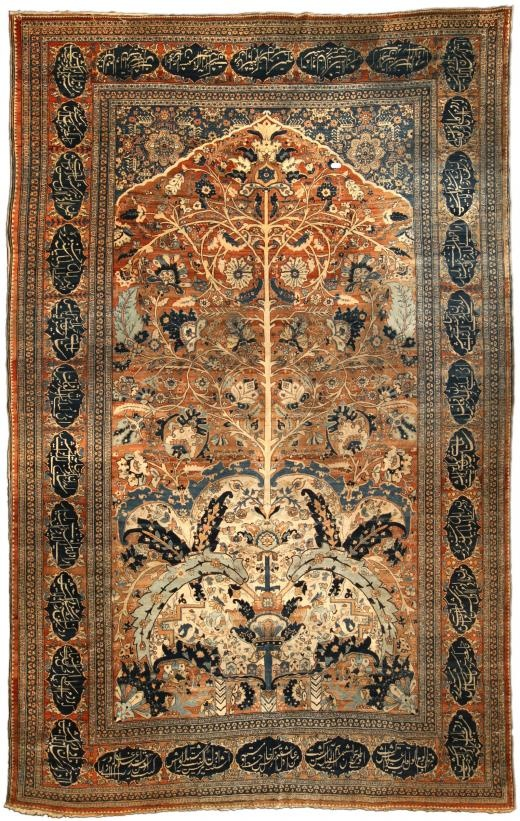 A Persian Tabriz carpet