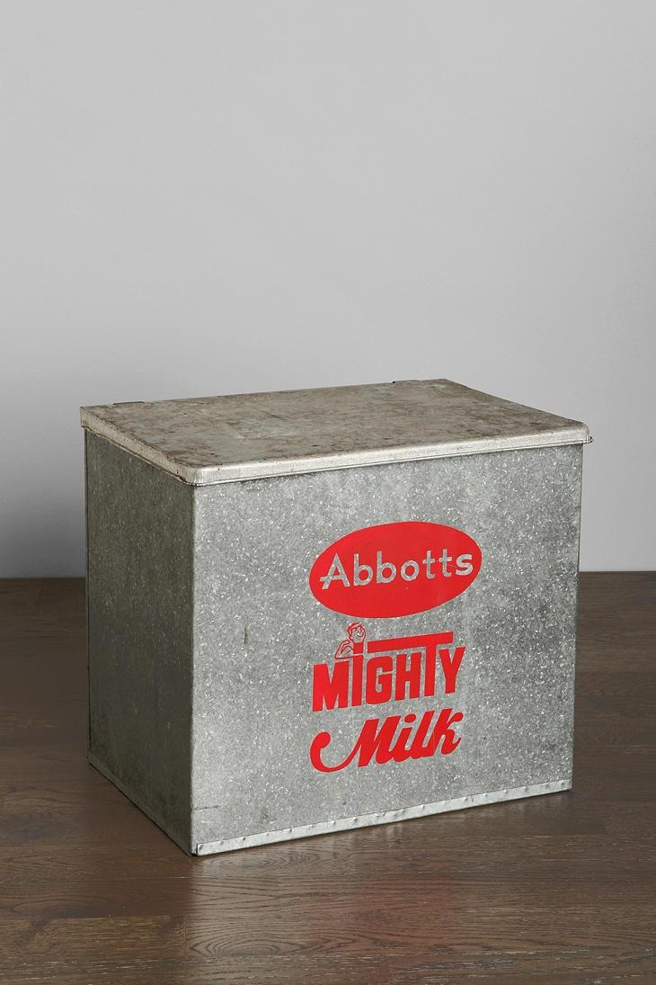 vintage mighty milk box. Black Bedroom Furniture Sets. Home Design Ideas