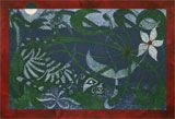 Title: Night Bloom (2013) Collagraph print with Acrylic on paper.  27.5 x 40.5 cm (10¾ x 16 in).
