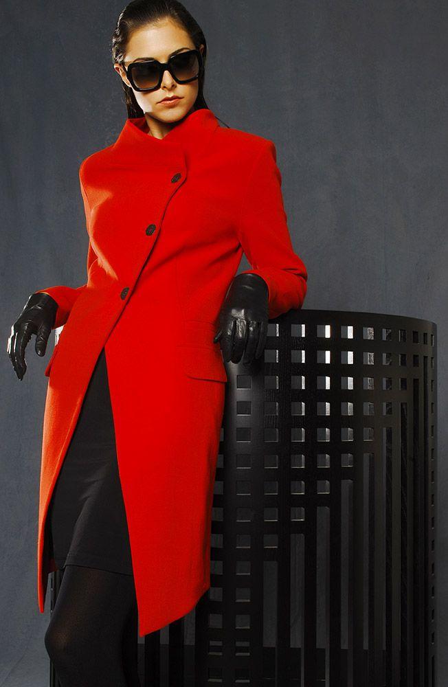 5331 Valencia Biella Wool Asymmetrical Coat
