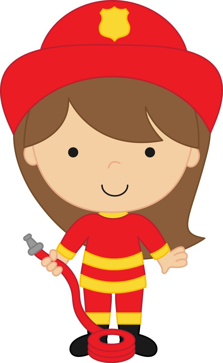Girls FirefighterOffice IdeasClip ArtParty IdeasGirl