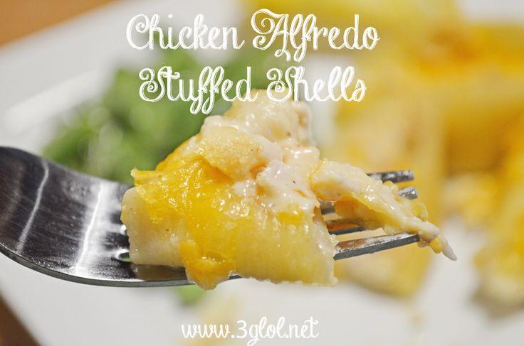 Chicken Alfredo Stuffed Shells by 3glol.net