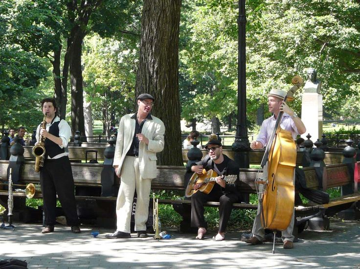 Musiciens à central Park à New-York en 2011