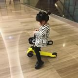 3 in1 Children scooter with adjustable height handle and light up whee – SilkRoads Online