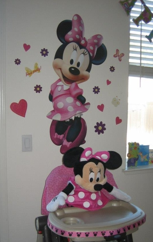 Huge Minnie mouse wall decal from Costco