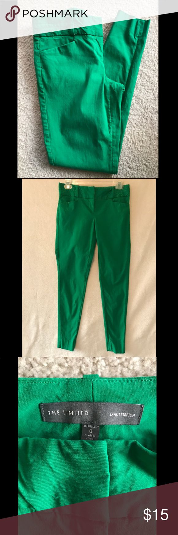 Limited Skinny Slacks Kelly green stretch trousers from the Limited. In great condition only worn 2 times. The Limited Pants Skinny