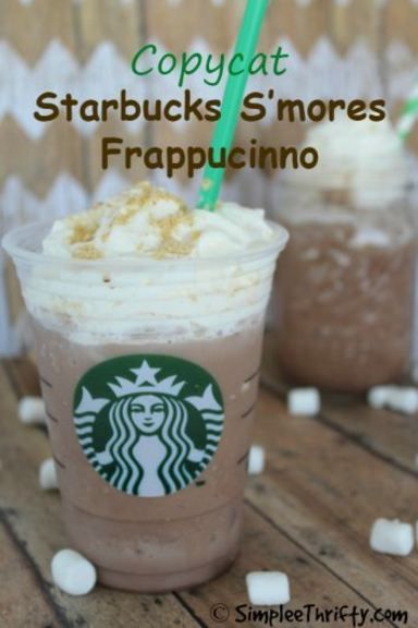 Enjoy this Copycat Starbucks S'mores Frappucinno recipe right at home and save money! Delicious summer beverage idea!