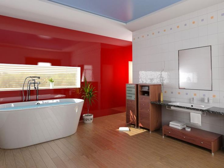 Best 25 red accent walls ideas on pinterest red accent for Red accent bathroom