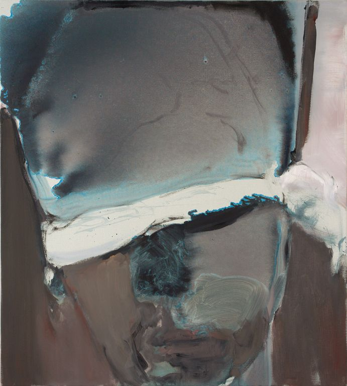 Marlene Dumas The Blindfolded Man, 2007 Oil on canvas, 39 3/8 x 35 2/5 inches