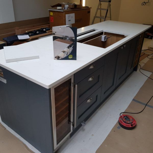 Pin By Rock And Co On Q White Carrara Shaker Style Kitchens Shaker Style White