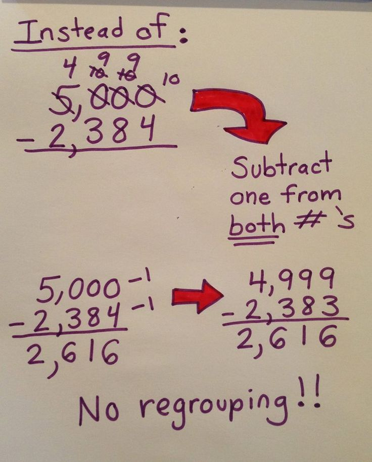 "Concept of ""borrowing"" hard to understand, teach math a new way."