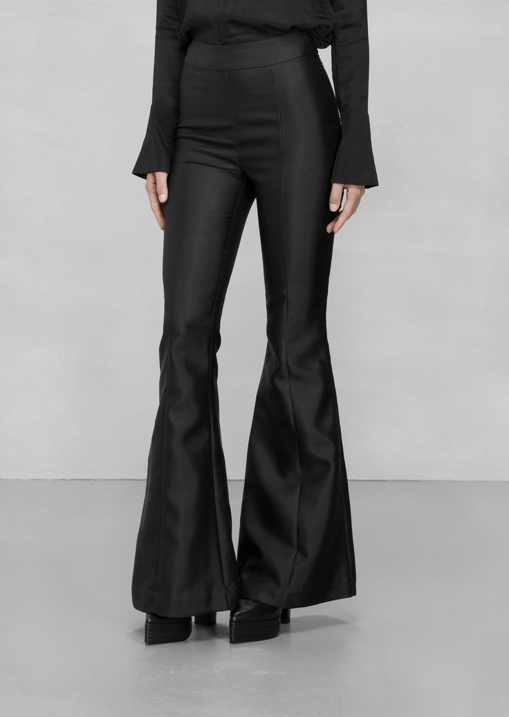 & Other Stories | Lykke Li Silk Trousers. Made from a soft silk blend, these fancy trousers feature flared legs and a slim fit over the hips.