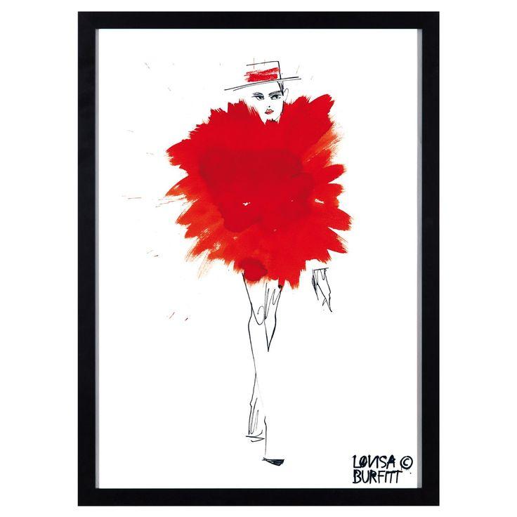 Mlle Fatale Rouge Pouf poster i gruppen Rum / Vardagsrum / Posters & Tavlor vardagsrum hos RUM21.se (124344)