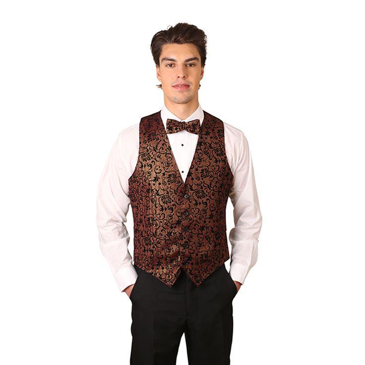 Men's Bronze Artistic Swirl Pattern Vest