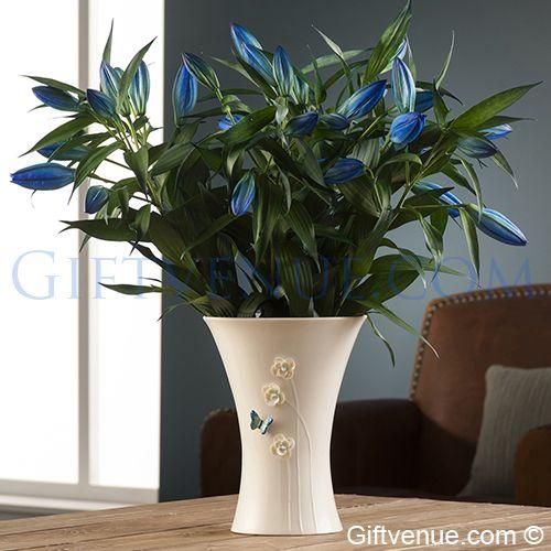 Belleek Azure Vase