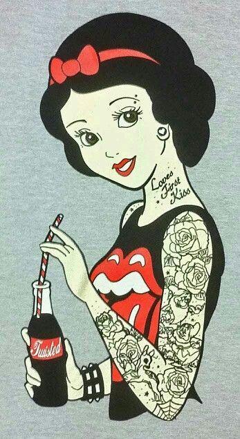 Personagens+de+desenhos+animados+tatuados+|+Tinta+na+Pele