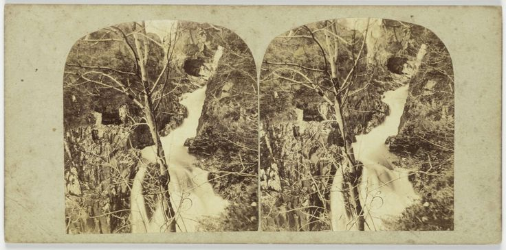 The Devil's Glen, from above the Falls, County Wicklow, Ireland, Anonymous, 1850 - 1880