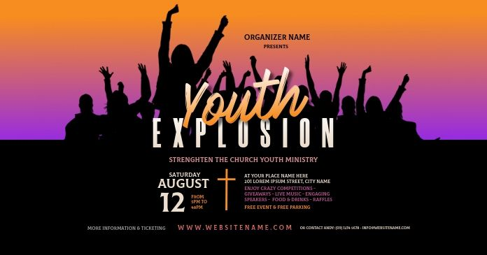 Youth Explosion Facebook Shared Image Event Flyer Templates Event Flyer Flyer