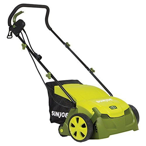 Sun Joe 13-in. 12-amp Electric Scarifier and Lawn Dethatcher with Collection Bag > Dimensions: 40L x 20W x 40H in. Constructed of steel Powered by 12-amp motor Check more at http://farmgardensuperstore.com/product/sun-joe-13-in-12-amp-electric-scarifier-and-lawn-dethatcher-with-collection-bag/