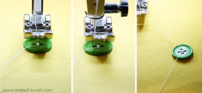 Attaching buttons with a sewing machine.......YES, it can be done!! Especially nice when attaching a large number of buttons to a project. www.makeit-loveit.com
