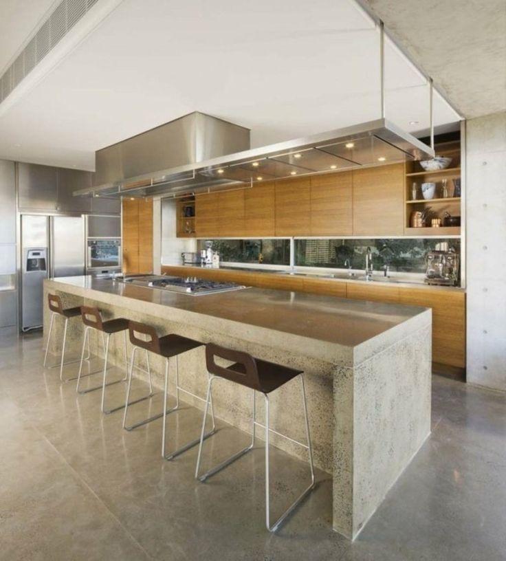 isla de cocina de cemento