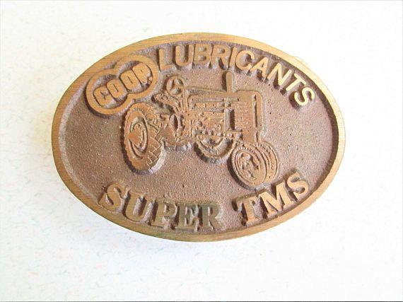 Vintage John Deere Brass Belt Buckle Farmland Series Coop