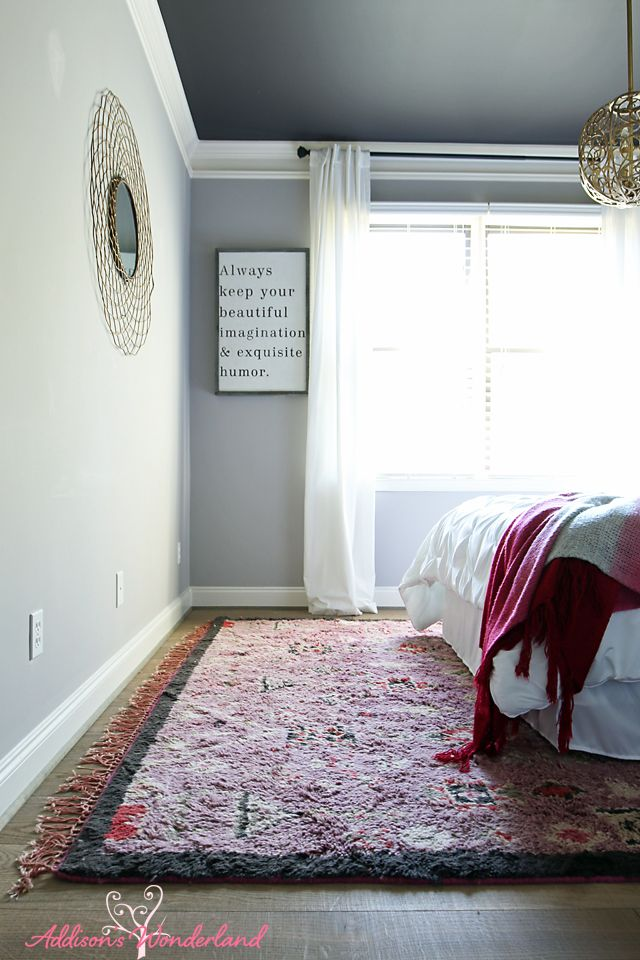 Gabinetes Para Baño Cali:vintage chic bedroom makeover features light gray walls, wide plank
