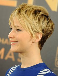 photo gallery jennifer lawrence short hair | Why We Now Love Jennifer Lawrence's Pixie Haircut | Daily Makeover