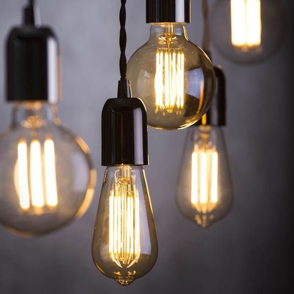 Bare Edison Black Nickel Pendant Light With Black Twist Fabric Cord Lampsy Edison Pendant Light Rustic Light Bulbs Filament Bulb Lighting