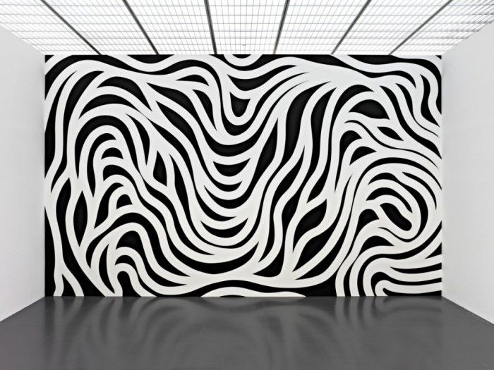 Sol LeWitt, Wall Drawing #879, Loopy Doopy (black and white), acrylic. / Public Delivery