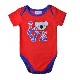 Koala - Australia Flag - Love Bodysuit (sizes 000 to 1) . Lots of Aussie themed gifts at www.notanotherbabyshop.com.au