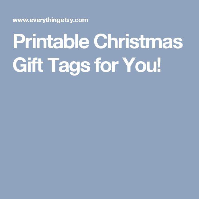 Printable Christmas Gift Tags for You!