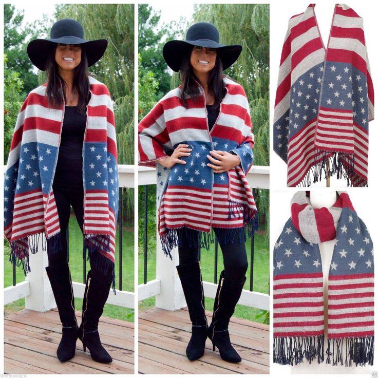 Vintage American Flag Oversized x Cozy Blanket Fringe Scarf Wrap Unisex $39 | eBay